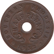 ½ penny - George VI – revers