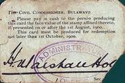 6 Pence - Bulawayo - Marshall Hole – avers