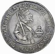 1 dalderi Gustave II Adolphe (regarder haut) – avers