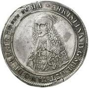 1 dalderi Christine (2e portrait; petit inscription) – avers