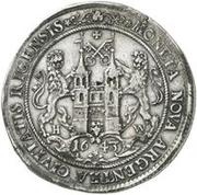 1 dalderi Christine (2e portrait; petit inscription) – revers