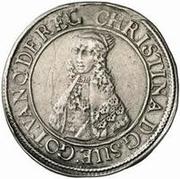 1 dalderi Christine (2e portrait; grand inscription) – avers