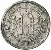 1 dalderi Christine (2e portrait; grand inscription) – revers