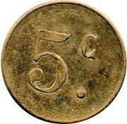 5 Centimes Pont-sur-Saulx ROBERT-ESPAGNE 55 – revers
