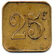 25 Centimes Pont-sur-Saulx ROBERT-ESPAGNE 55 – revers