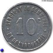 10 Centimes Syndicat du Commerce  - Rochefort sur mer [17] – revers