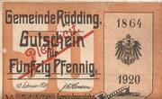 50 Pfennig (Rödding) – avers