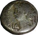 Tetradrachme - NERON  - Alexandrie d'Egypte- Hera Argeia- Sans étoile – avers
