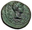 AE20 - Augustus [Rhoemetalkes I] – avers