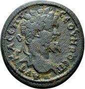 Æ 25 - Septimus Severus (BPOYZHNΩΝ; Bruzus) -  avers