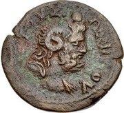 Diobol-Domitien ,Zeus Ammon (Alexandrie ) – revers