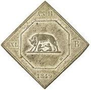 40 baiocchi (Seige of Rome) – avers