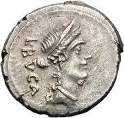 Denier (Aemilii: Lucius Aemilius Buca, L•BVCA) -  avers