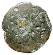 Anonymous republic Janus semiuncial (half ounce) copper AE as – avers