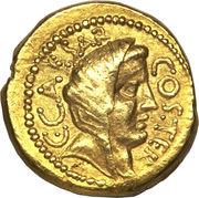Aureus - Jules César (C•CAESAR COS•TER / A•HIRTIVS•PR)