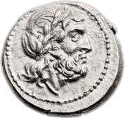 Victoriatus (Anonyme ; ROMA ; lettres au revers) -  avers