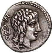 Quinarius (Porcia: Cato Uticensis; M CATO / VICTRIX) – avers