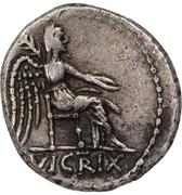 Quinarius (Porcia: Cato Uticensis; M CATO / VICTRIX) – revers