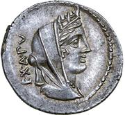 Denarius (Fabia: C. Fabius C. f. Hadrianus; MN•FONTEI) -  avers