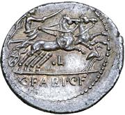 Denarius (Fabia: C. Fabius C. f. Hadrianus; MN•FONTEI) -  revers