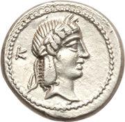 Quinaire (Calpurnii: Lucius Calpurnius Piso Frugi, L PISO FRVGI) -  avers