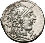 Denier (Minucii: Quintus Minucius Rufus, RVF / Q•MINV ROMA) -  avers