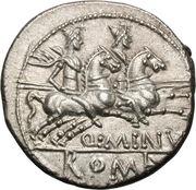 Denier (Minucii: Quintus Minucius Rufus, RVF / Q•MINV ROMA) -  revers