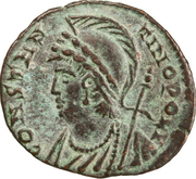 Follis - Constantin II (CONSTANTINOPOLI / GLORIA EXERCITVS, Héraclée) – avers