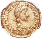 1 Solidus - Petronius Maximus – avers