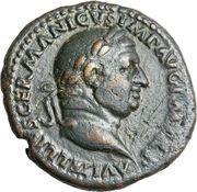 As - Vitellius (VICTOR AVG SC, atelier de Rome) – avers