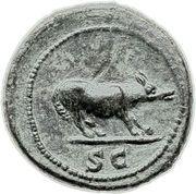 Quadrans Trajan (S C, Loup) -  revers
