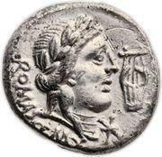 Denier (Fabii: Quintus Fabius Maximus, ROMA Q•MAX) -  avers