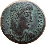 Follis - Contance II (GLORIA EXERCITVS, un seul étendard accosté de deux points, Antioche) – avers