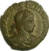 Follis - Constance II (GLORIA EXERCITVS, deux enseignes, Rome) – avers