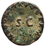 Domitian AE Quadrans AD 84-85 Rhino – avers
