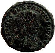 Follis - Constance II (GLORIA EXERCITVS, deux enseignes, Siscia) – avers