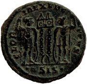Follis - Constance II (GLORIA EXERCITVS, deux enseignes, Siscia) – revers