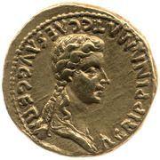 Aureus - Caligula et Agrippine l'Aînée (AGRIPPINA MAT C CAES AVG GERM) -  avers