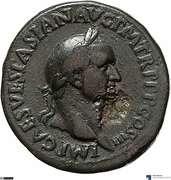Sesterce - Vespasien (SPES AVGVSTA S C; Spes) – avers