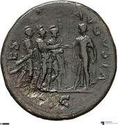 Sesterce - Vespasien (SPES AVGVSTA S C; Spes) – revers