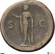Sesterce - Vespasien (S C; Spes) – revers