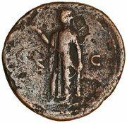 Dupondius - Domitien (CERES AVGVST S C; Cérès) – revers
