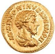 Aureus - Marc Aurèle (SALVTI AVGVSTOR TR P XVIII COS III; Salus) -  avers