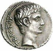 Denier - Auguste (C ANTISTI VETVS IIIVIR APOLLINI ACTIO; Apollon) -  avers