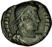 Follis - Valentinien Ier (GLORIA ROMANORVM, Thessalonique) -  avers