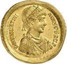 Solidus - Valentinien II (CONCORDIA AVGGG, Constantinople) – avers