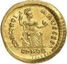 Solidus - Valentinien II (CONCORDIA AVGGG, Constantinople) – revers