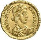 Solidus - Valentinien II (VICTORIA AVGG, Trèves) – avers