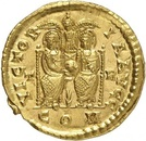 Solidus - Valentinien II (VICTORIA AVGG, Trèves) – revers