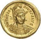 Solidus - Théodose II (CONCORDIA AVGG, Constantinople) – avers